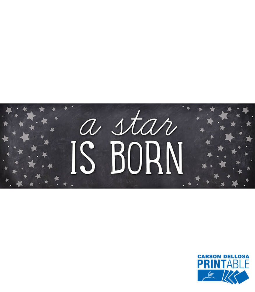 Twinkle Twinkle You're A STAR! A Star Is Born Printable Chart Product Image