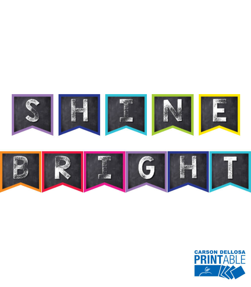 Twinkle Twinkle You're A STAR! Shine Bright Printable Pennants Product Image