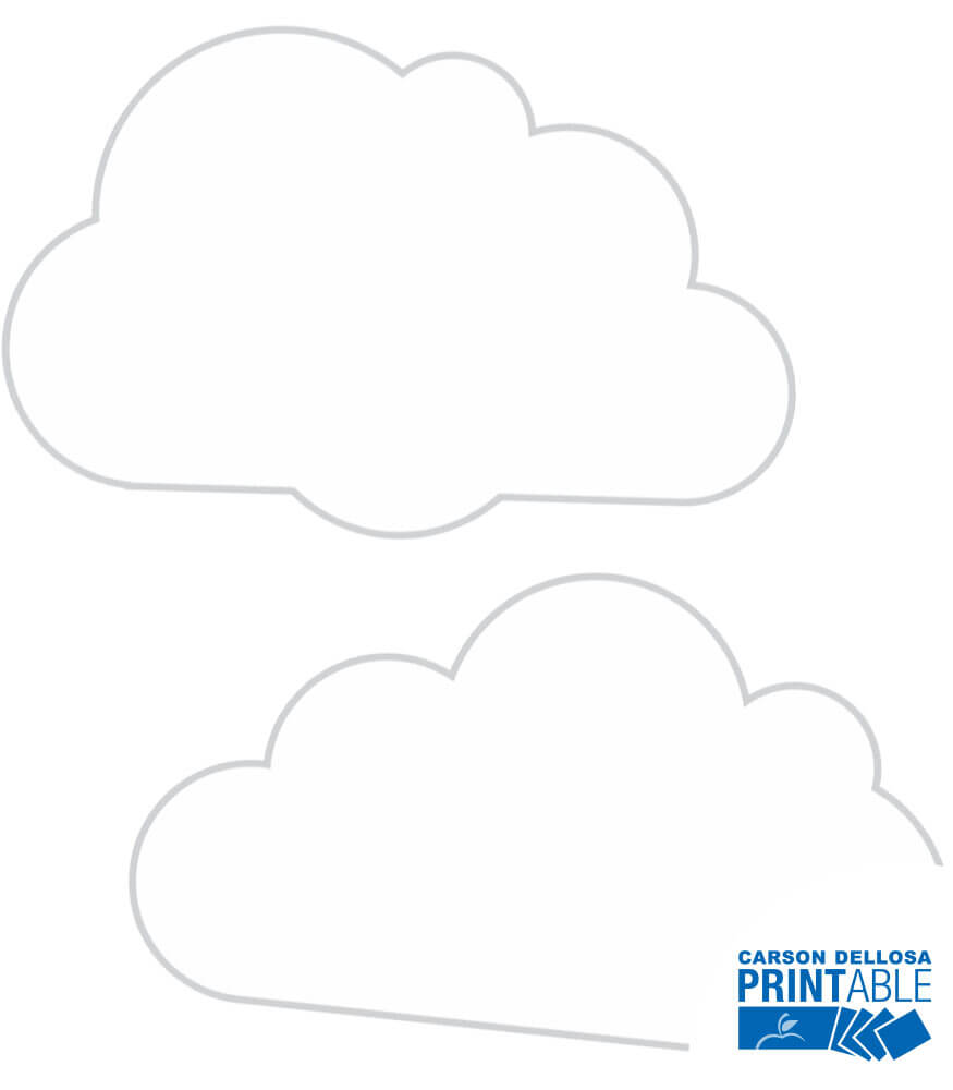 Twinkle Twinkle You're A STAR! Cloud Printable Cut-Outs Product Image