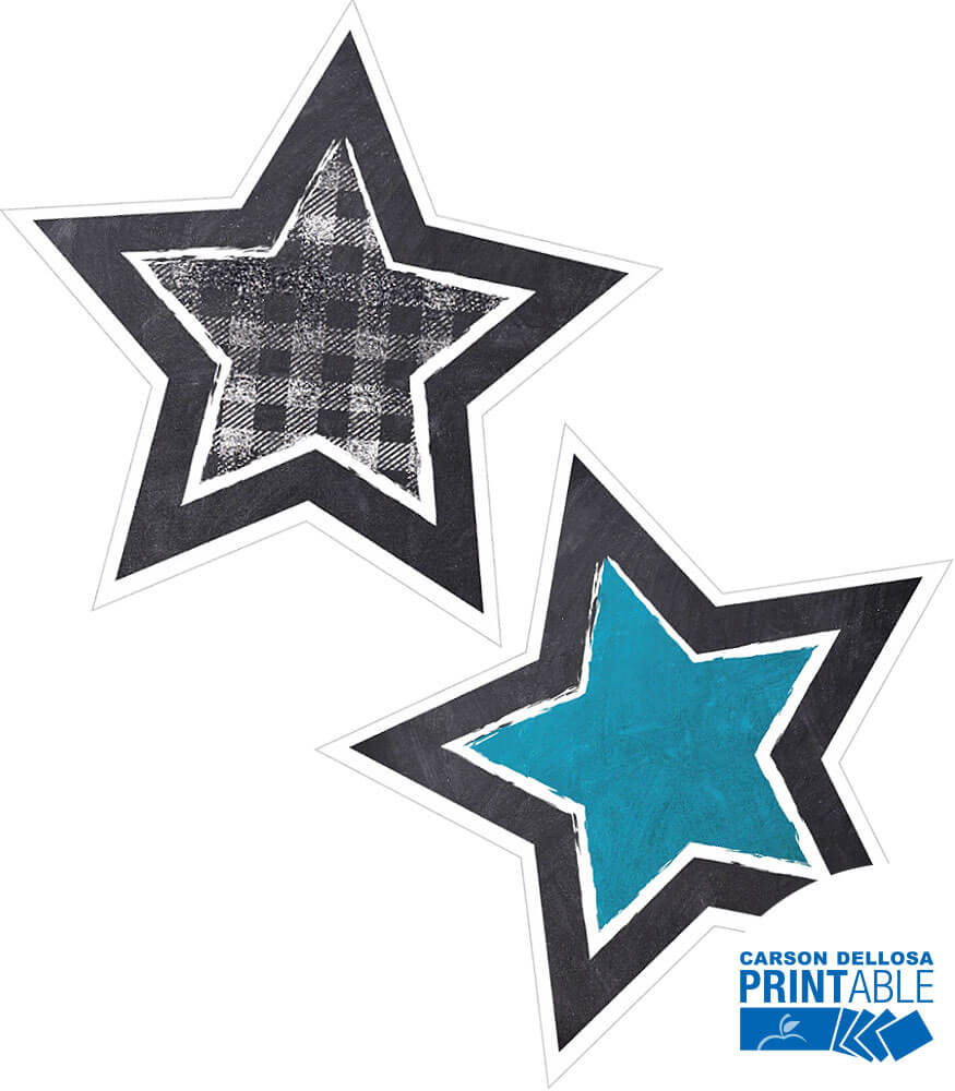 Twinkle Twinkle You're A STAR! Chalkboard Star Printable Cut-Outs Product Image