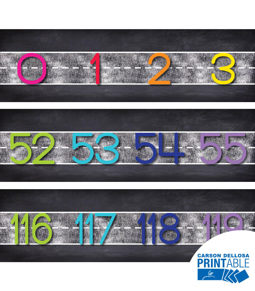Twinkle Twinkle You're A STAR! Number Line 0–120 Printable Bulletin Board Set Product Image