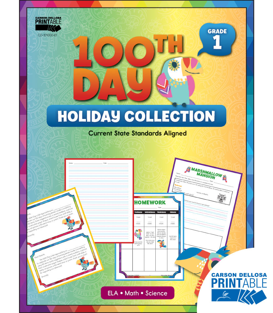 100th Day Holiday Printable Collection Product Image