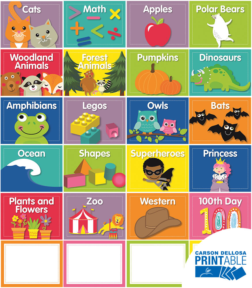 Just Teach Classroom Library Printable Labels & Organizers Product Image