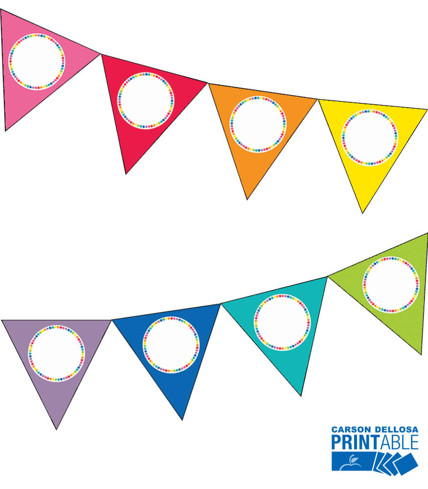 Just Teach Rainbow Printable Pennants Product Image