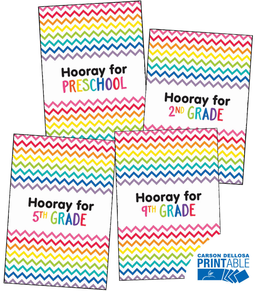Just Teach Hooray! Printable Chart Set Product Image