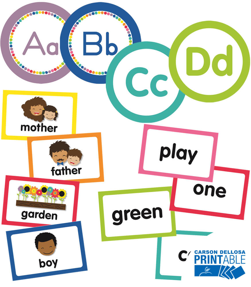 Just Teach Word Wall Printable Bulletin Board Set Product Image