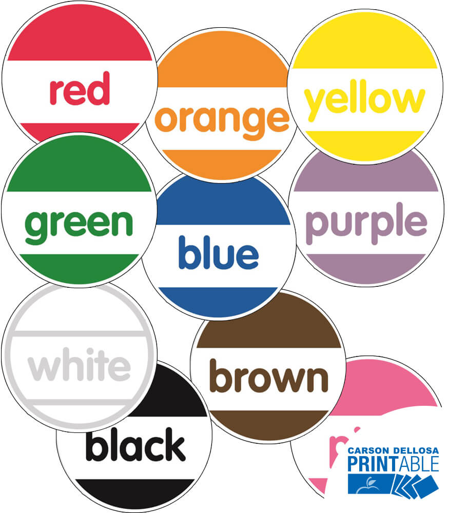 Just Teach Round Color Printable Cut-Outs Product Image