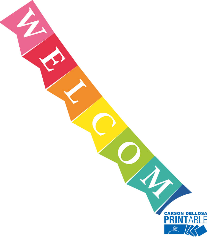 Just Teach Welcome Printable Pennants Product Image