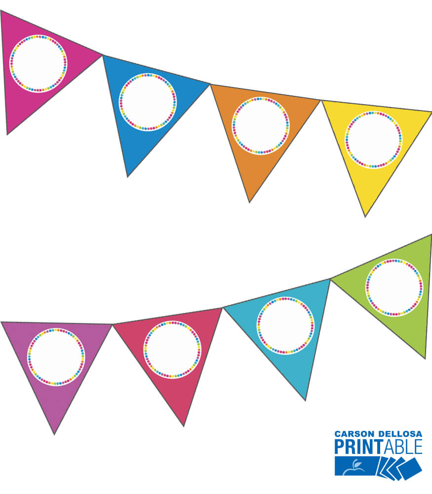 Just Teach Rainbow NEON Printable Pennants Product Image