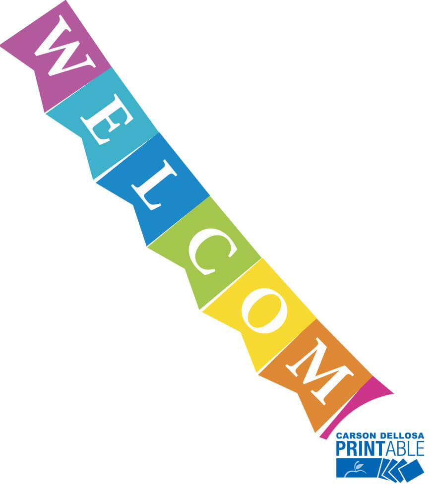 Just Teach NEON Welcome Printable Pennants Product Image