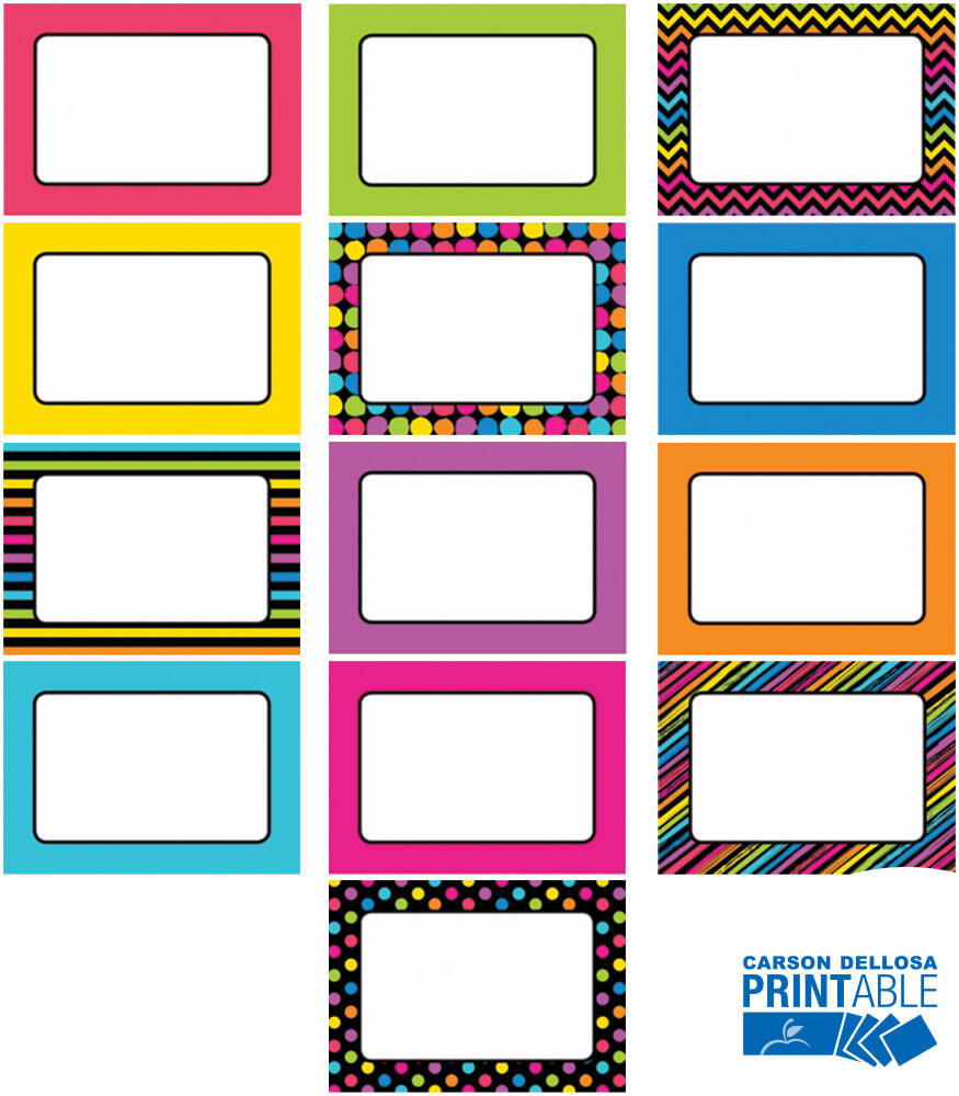 Just Teach NEON Printable Labels & Organizers Product Image