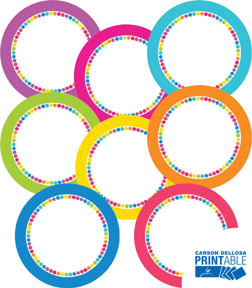 Just Teach NEON Round Printable Labels & Organizers Product Image