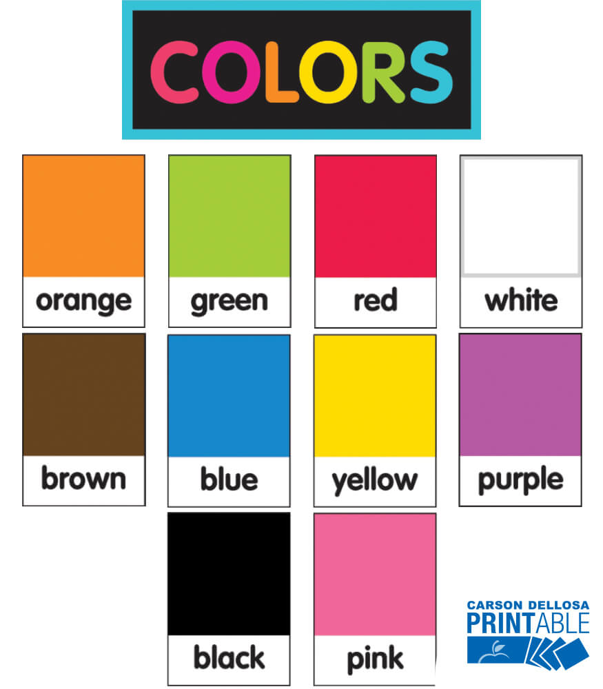 Just Teach NEON Color Pantone  Printable Cut-Outs