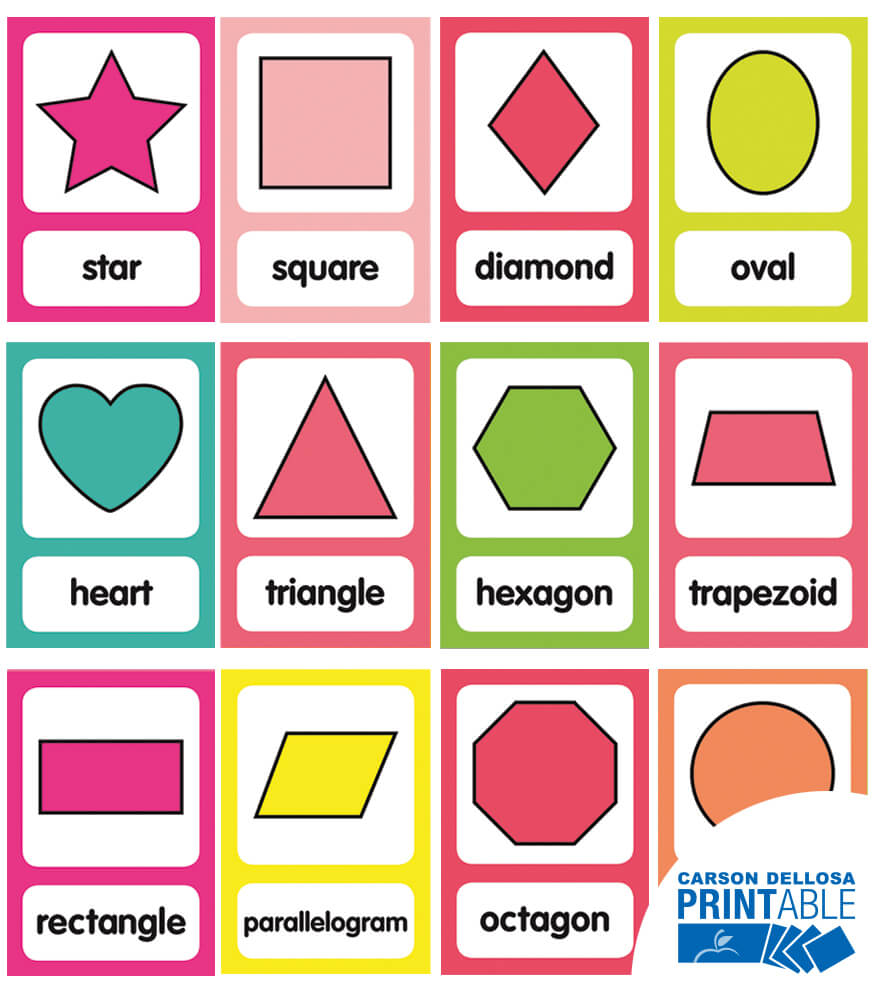 Just Teach Shape Printable Bulletin Board Set Product Image