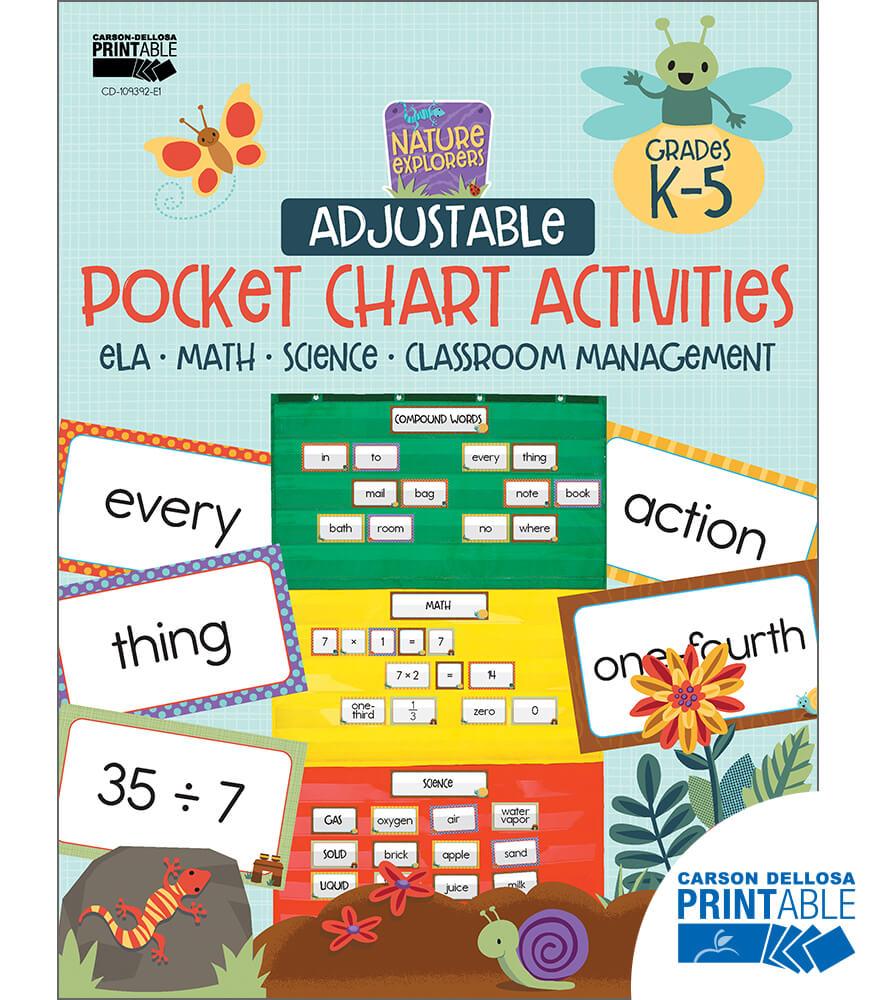 Nature Explorers Adjustable Printable Pocket Chart Activities Product Image