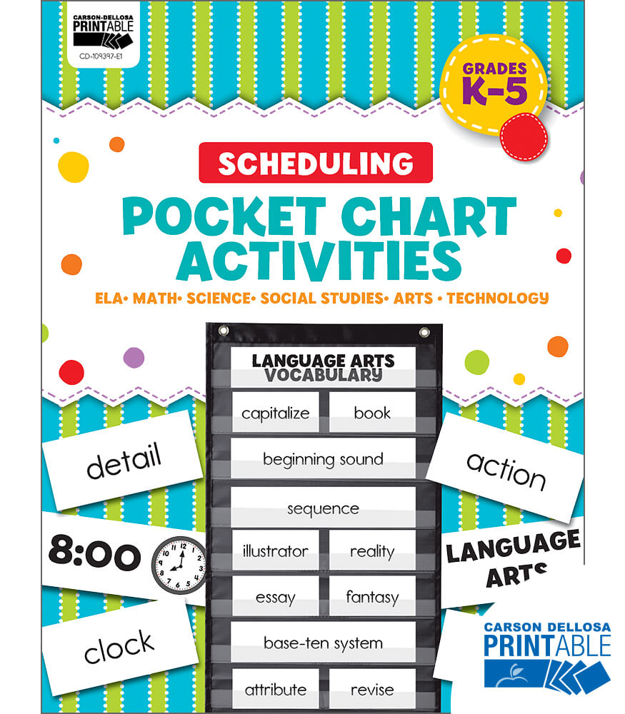 Scheduling Printable Pocket Chart Activities