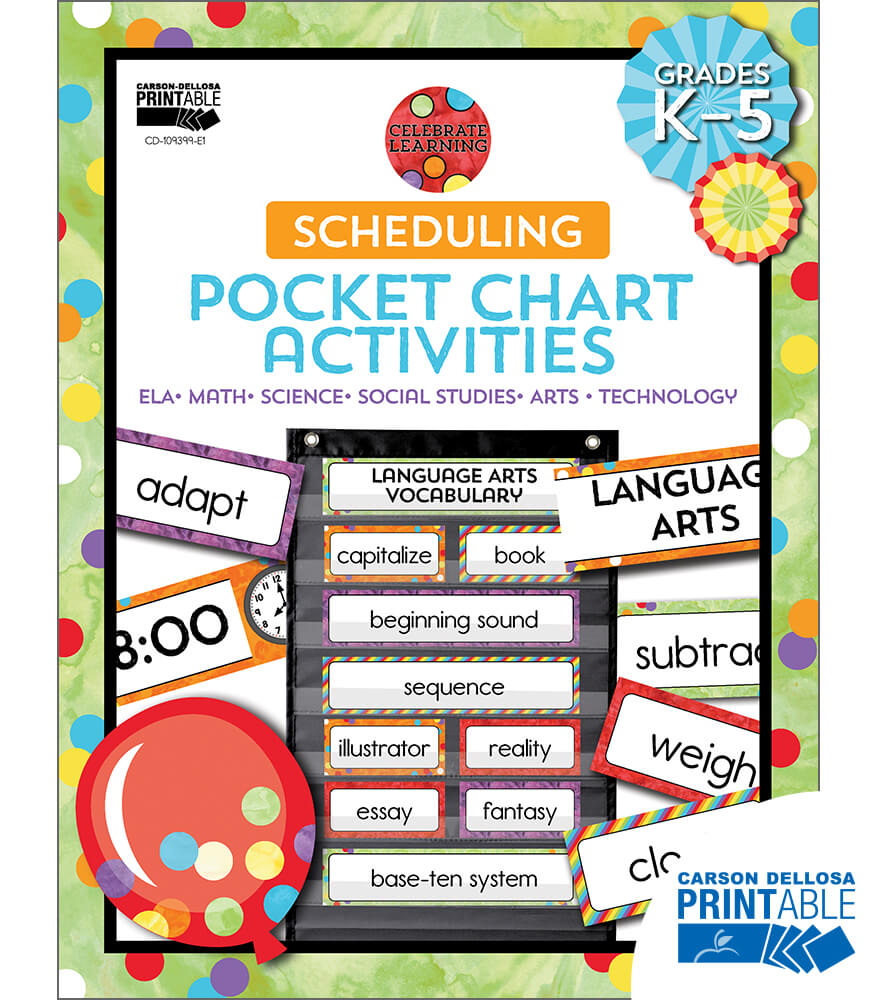 Celebrate Learning Scheduling Printable Pocket Chart Activities Product Image