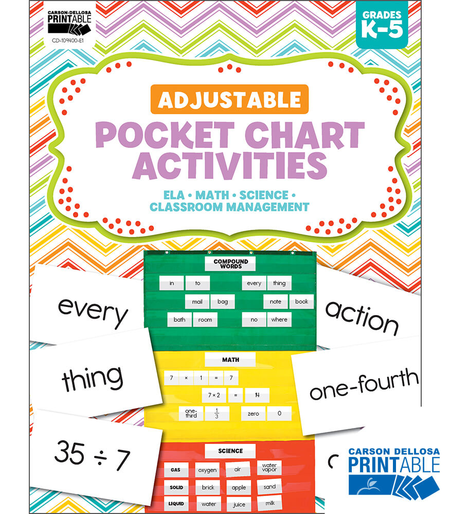 Adjustable Printable Pocket Chart Activities