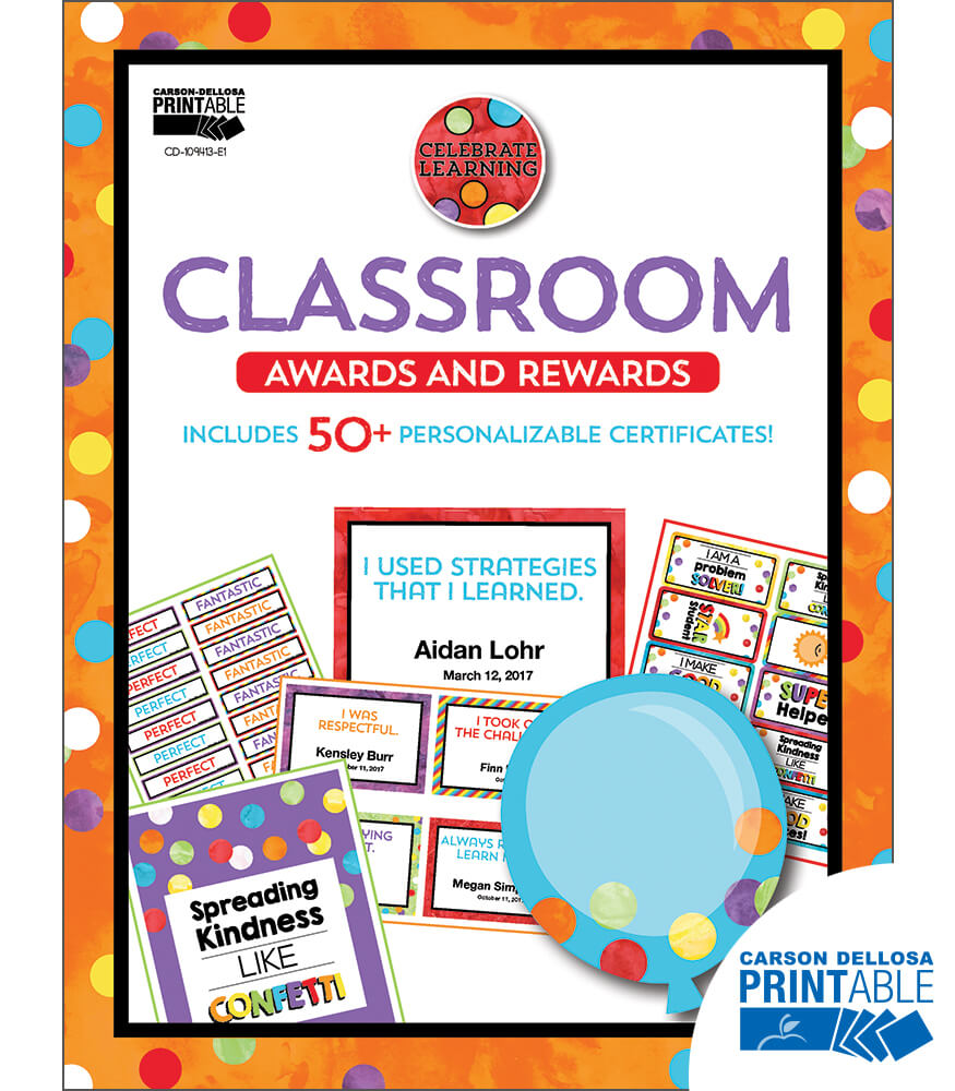 Celebrate Learning Printable Awards & Rewards Product Image
