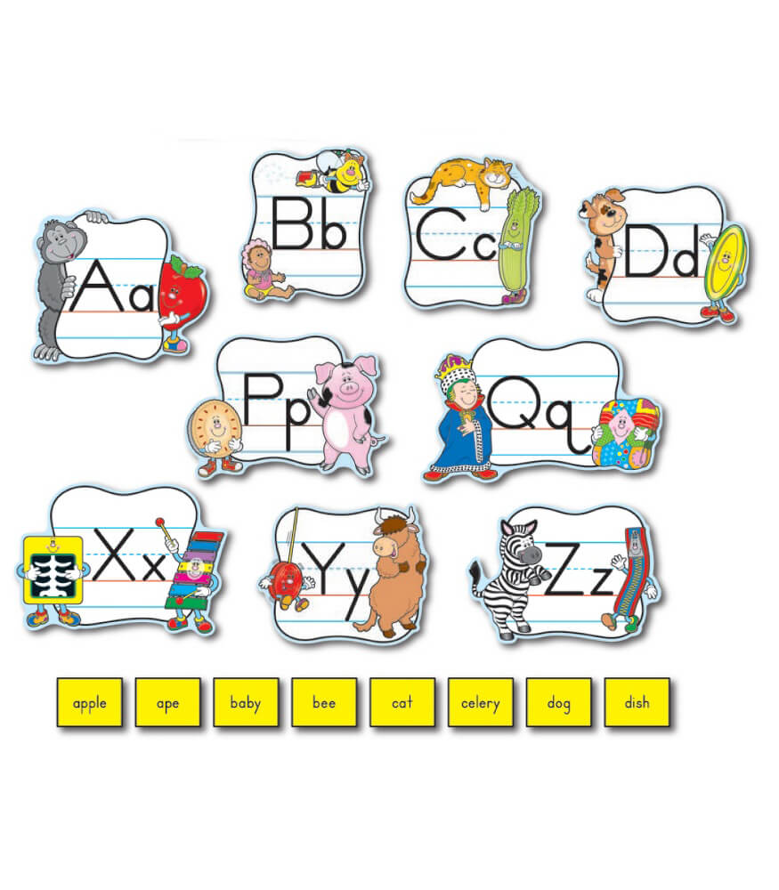 Alphabet: Traditional Manuscript Mini Bulletin Board Set Product Image