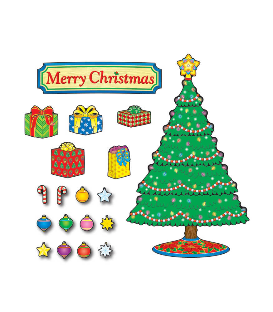 Christmas Tree Mini Bulletin Board Set Product Image