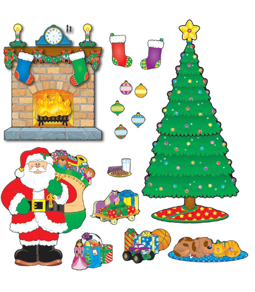 Christmas Scene Bulletin Board Set Product Image