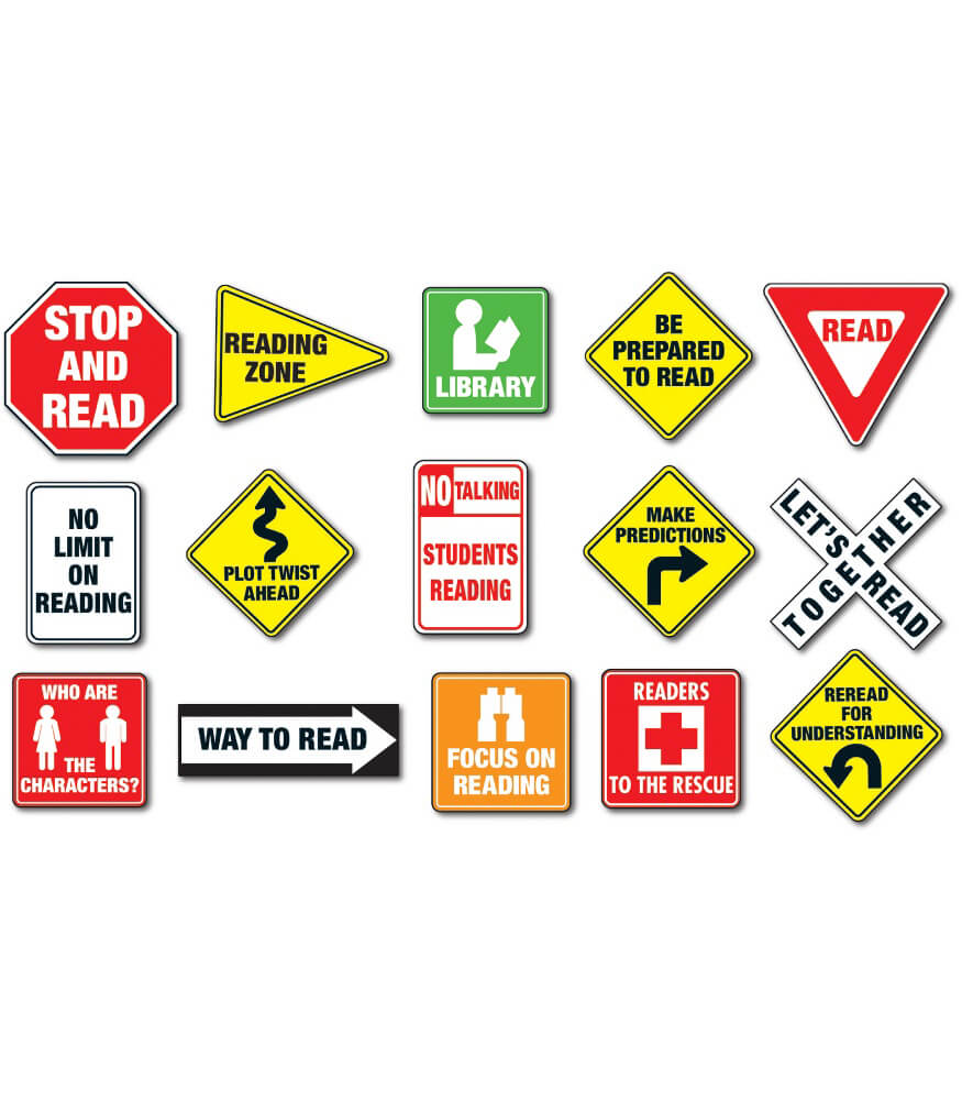 Reading Road Signs Bulletin Board Set Product Image