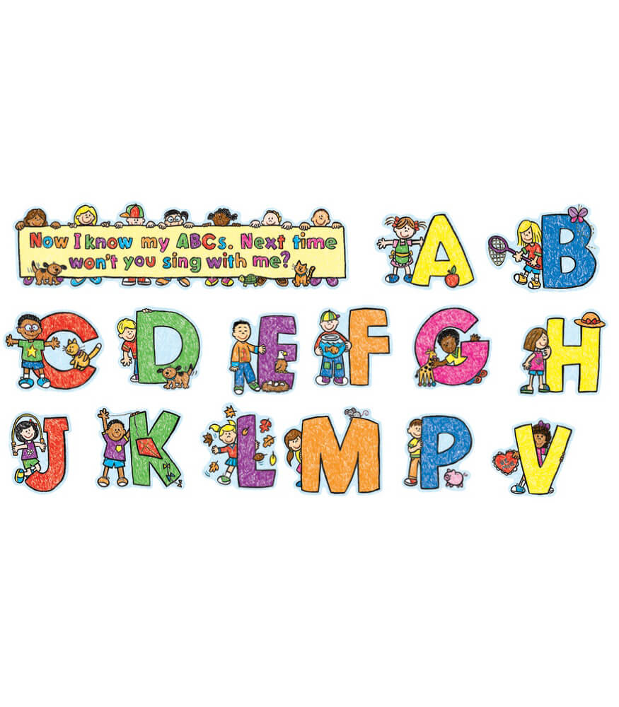 Alphabet Kids Mini Bulletin Board Set Product Image