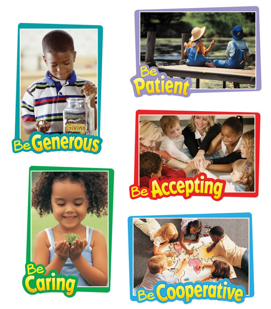 First–Rate Character Traits Bulletin Board Set Product Image