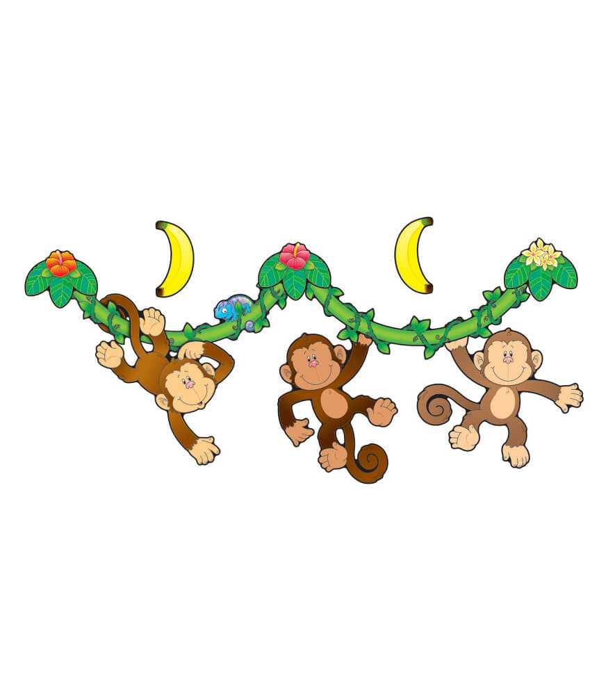 Monkey Bulletin Board Set Product Image