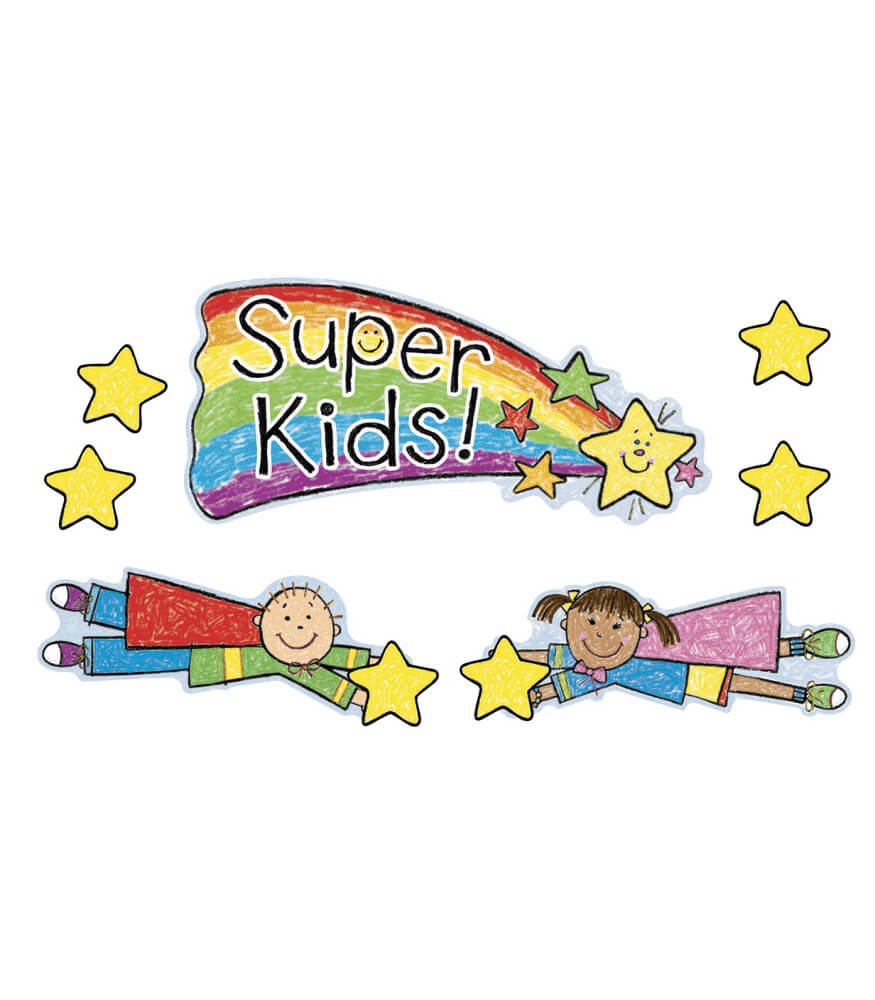 Super Kids Job Assignment Bulletin Board Set Product Image