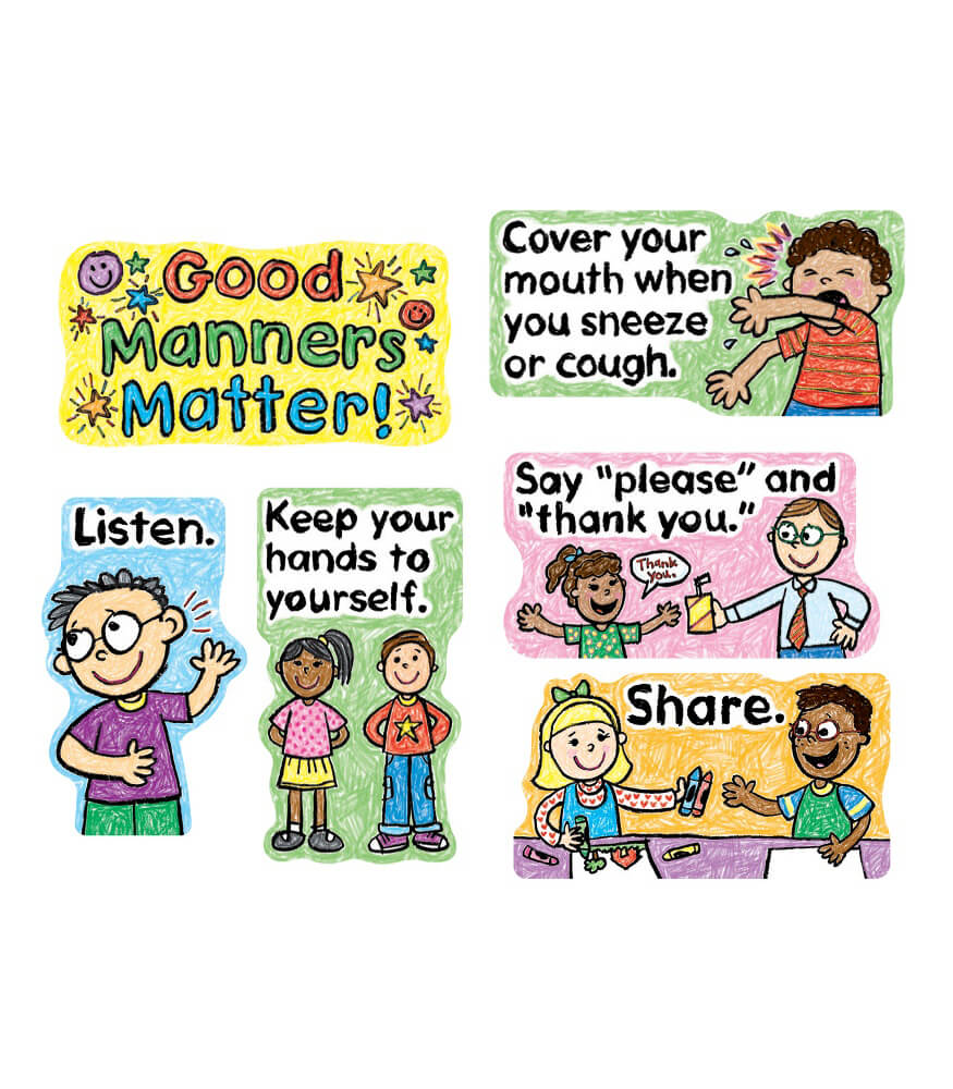 Good Manners Matter Mini Bulletin Board Set Product Image