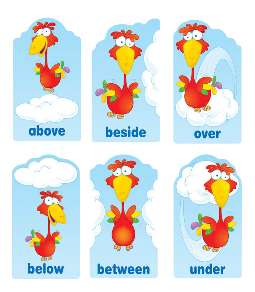 Positional Words Mini Bulletin Board Set Product Image