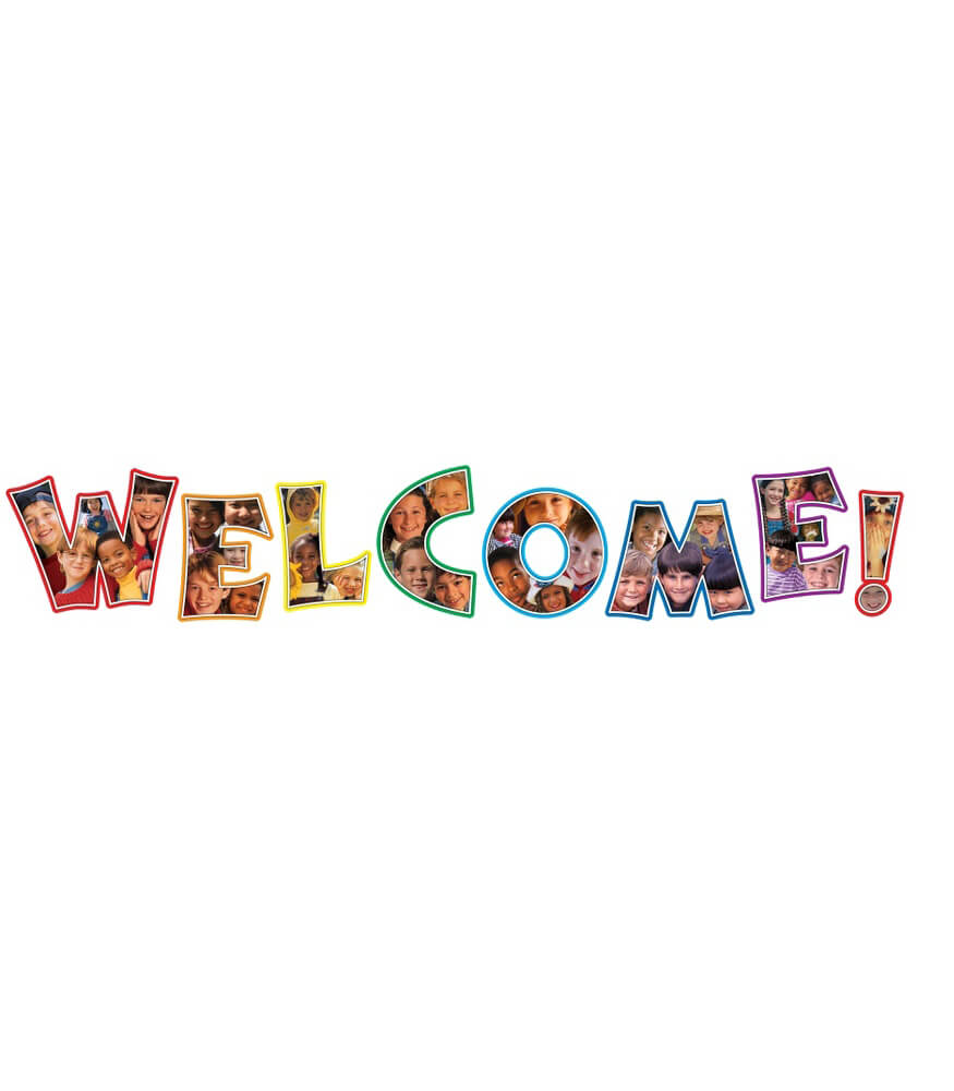 Photographic Welcome Bulletin Board Set Product Image