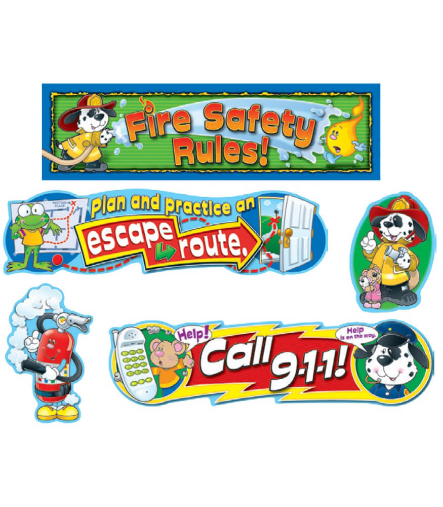 Fire Safety Mini Bulletin Board Set Product Image