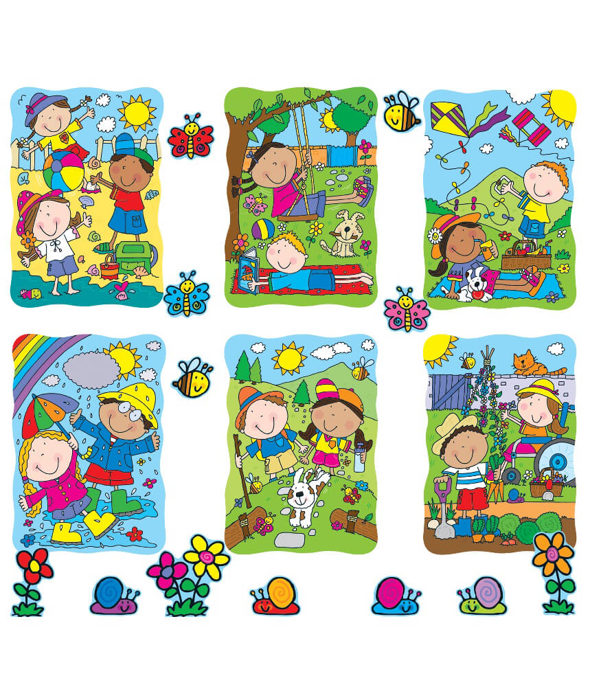 110140 Spring Summer Accents Bulletin Board Set 110140 on Thanksgiving Day Bulletin Boards