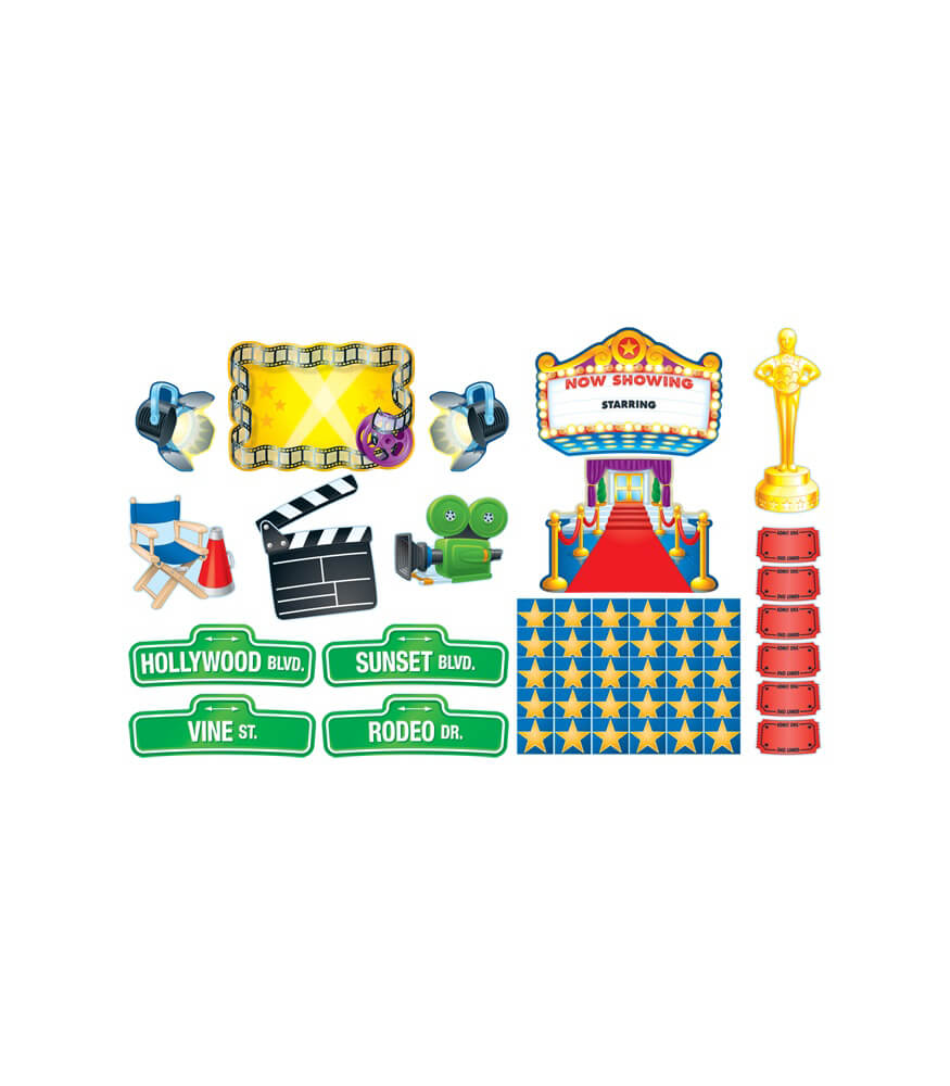 Lights, Camera, Action! Bulletin Board Set Product Image