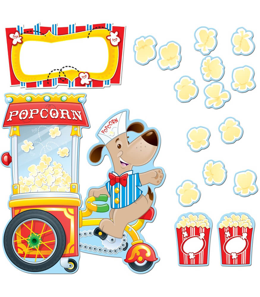 Poppin' Popcorn Bulletin Board Set Product Image