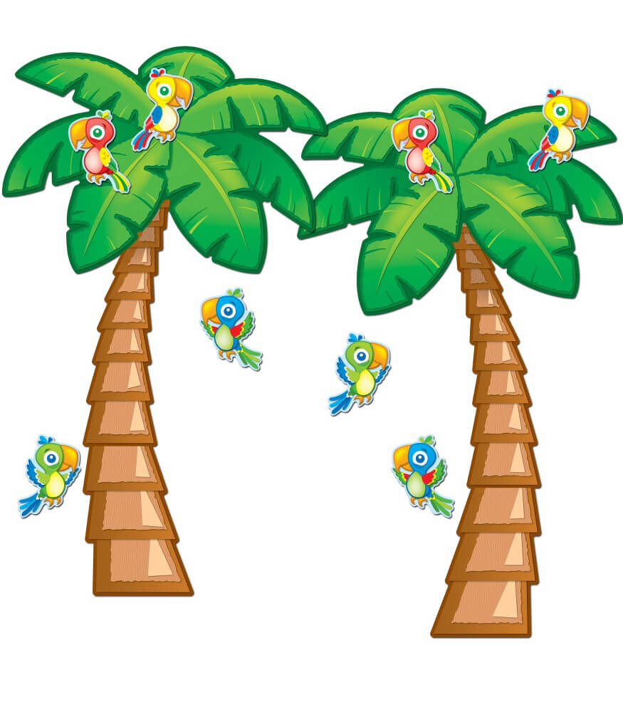 Tropical Trees Bulletin Board Set Grade PK-5