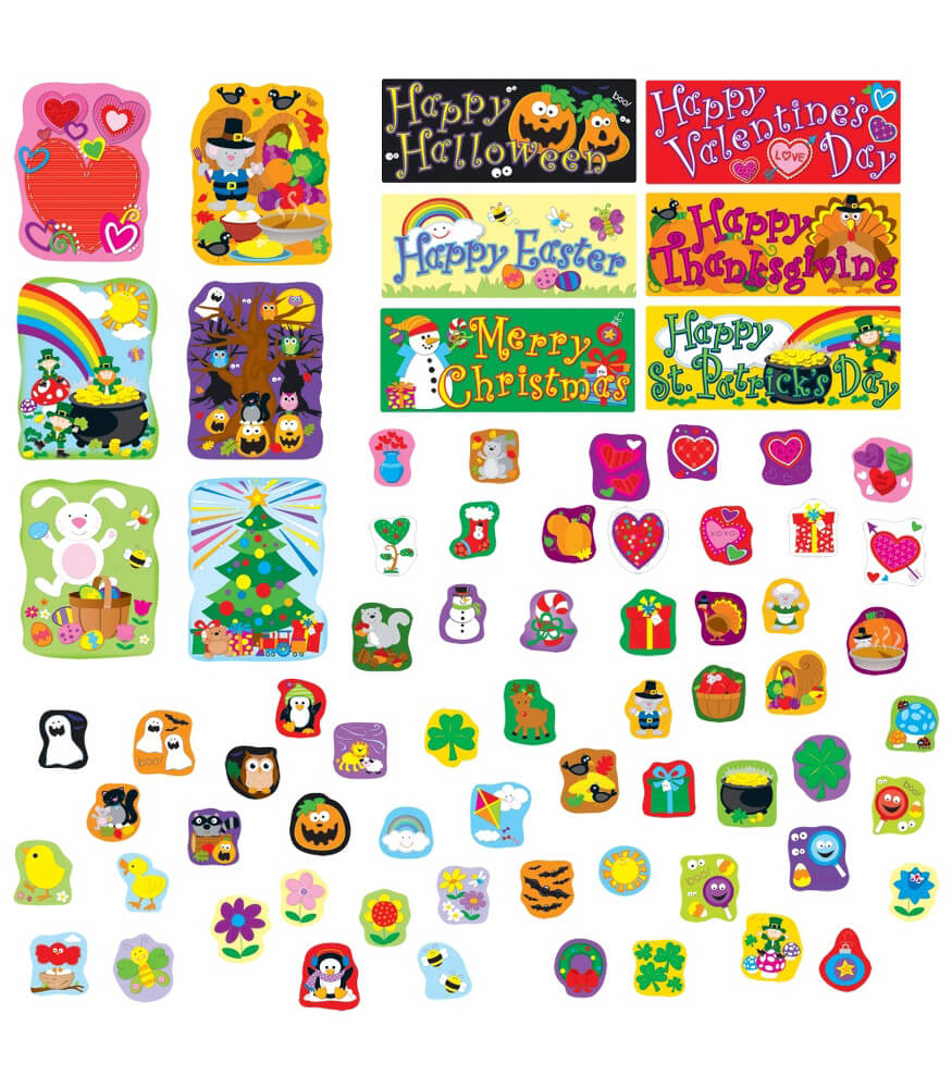Holidays Bulletin Board Set Product Image