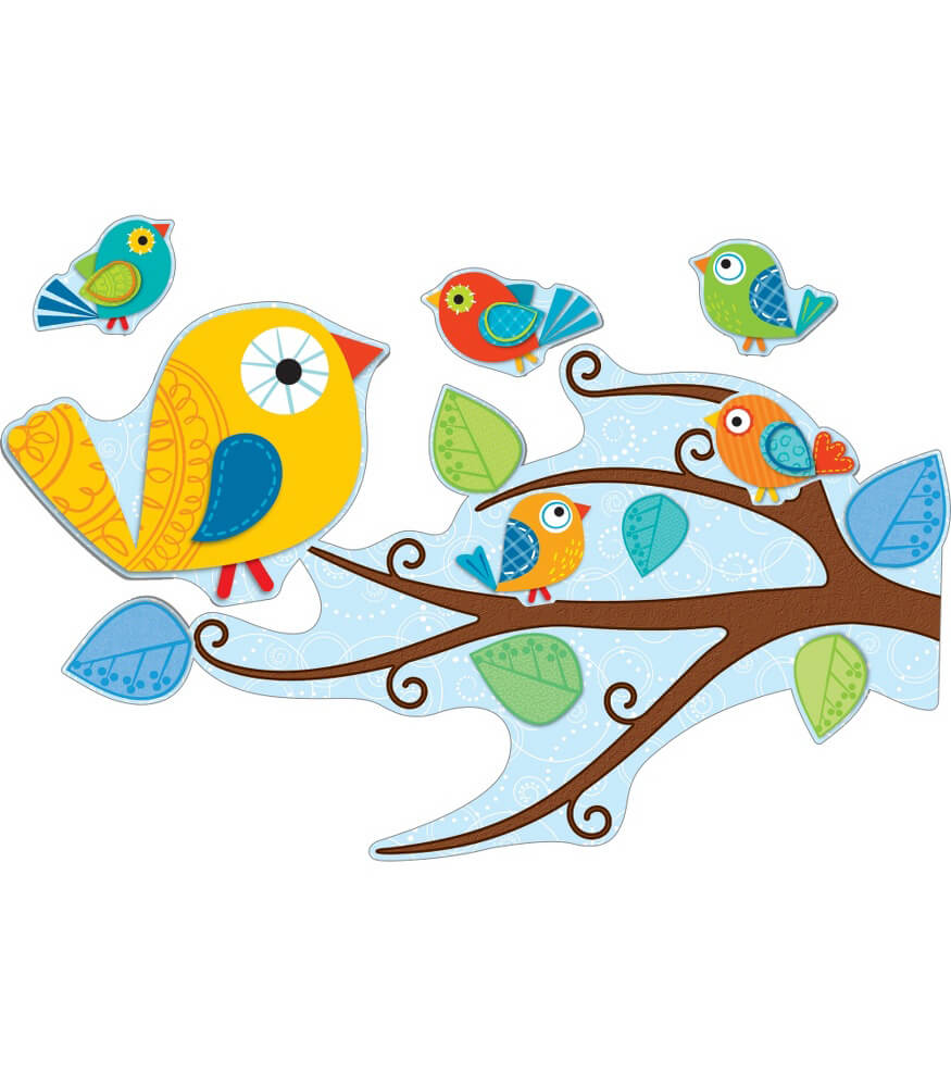 Boho Birds Bulletin Board Set Product Image