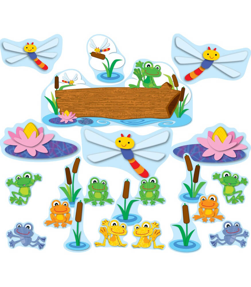 Classroom Decor Sets ~ Funky frogs bulletin board set