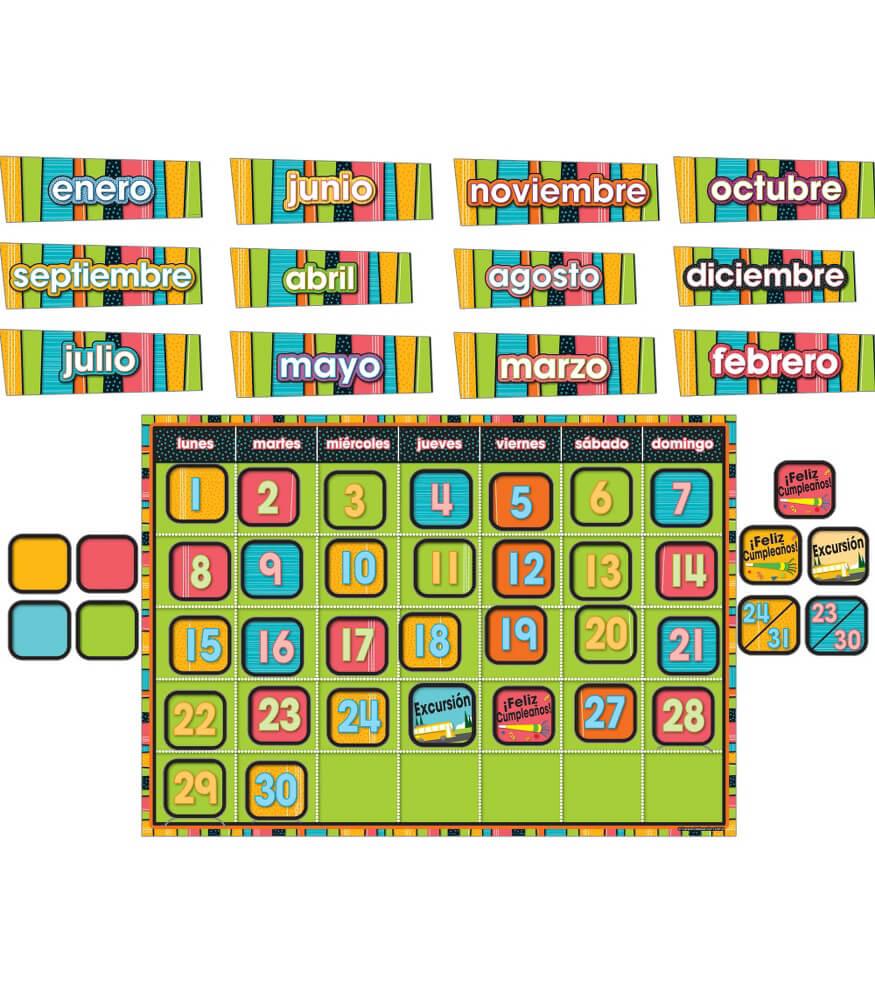 Stylin' Stripes Spanish Bulletin Board Set Product Image