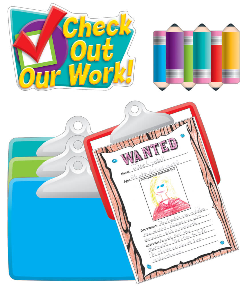 Check Out Our Work! Bulletin Board Set Product Image
