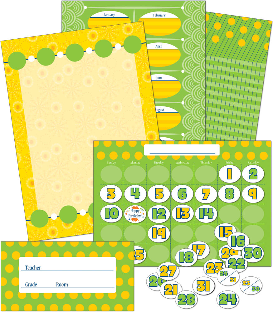 Lemon Lime Bulletin Board Set