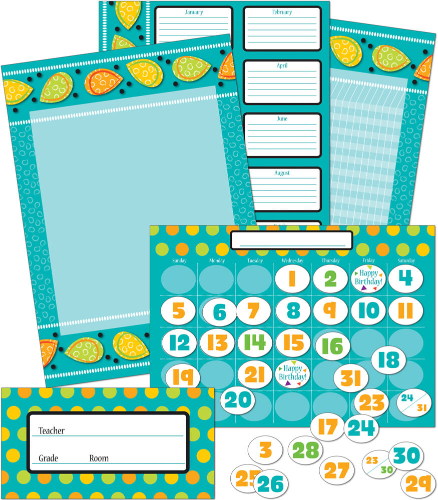 Teal Appeal Bulletin Board Set Product Image