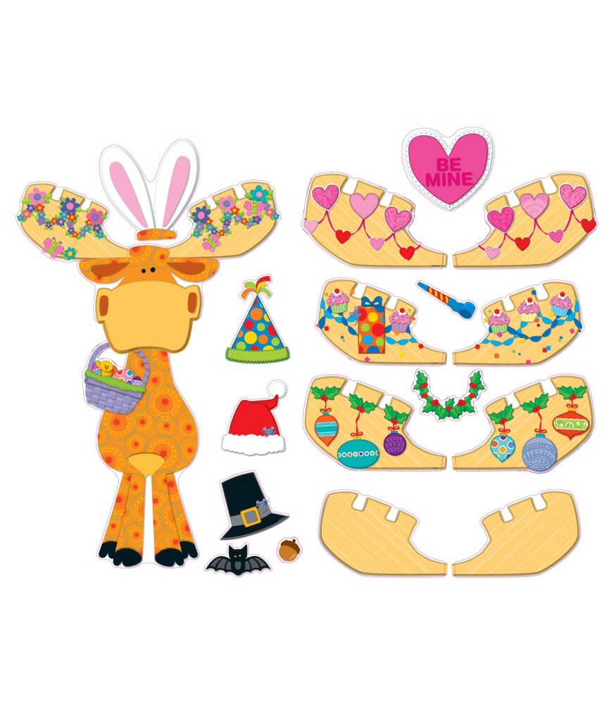 Celebrate with Moose & Friends Bulletin Board Set Product Image