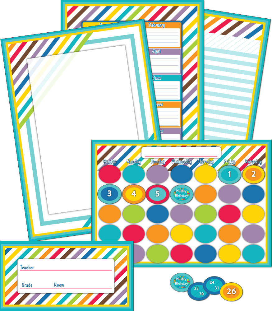 Color Me Bright Bulletin Board Set Product Image