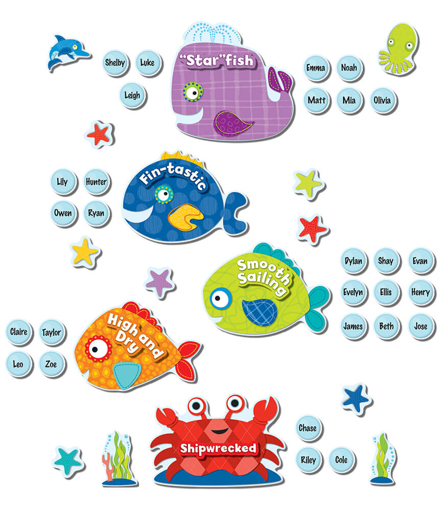 Seaside Splash Behavior Bulletin Board Set Product Image