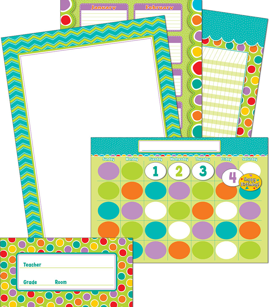 Fresh Sorbet Bulletin Board Set
